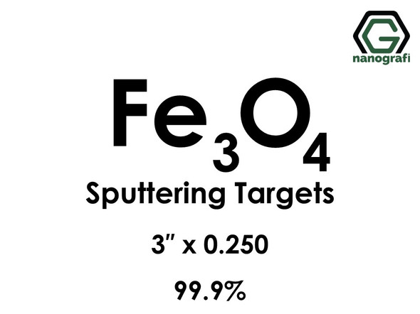 Iron Oxide (Fe3o4) Sputtering Targets, Size:3'' ,Thickness:0.250'' , Purity: 99.9%