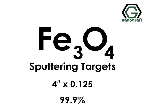 Iron Oxide (Fe3o4) Sputtering Targets, Size:4'' ,Thickness:0.125'' , Purity: 99.9%