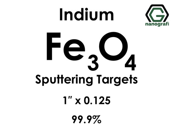 Iron Oxide (indium)(Fe3o4) Sputtering Targets, Size:1'' ,Thickness:0.125'' , Purity: 99.9%