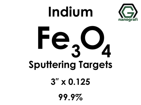 Iron Oxide (indium)(Fe3o4) Sputtering Targets, Size:3'' ,Thickness:0.125'' , Purity: 99.9%