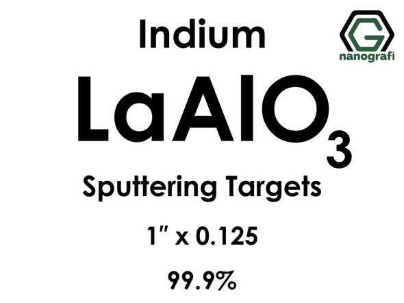 Lanthanum Aluminate (indium)(LaAlO3) Sputtering Targets, Size:1'' ,Thickness:0.125'' , Purity: 99.9%