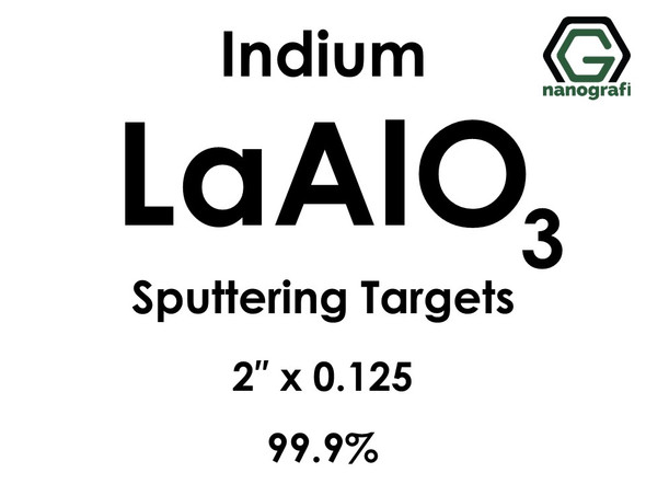 Lanthanum Aluminate (indium)(LaAlO3) Sputtering Targets, Size:2'' ,Thickness:0.125'' , Purity: 99.9%