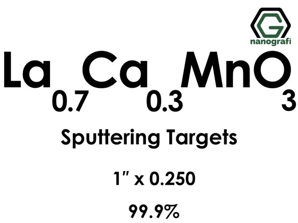 Lanthanum Calcium Manganate(La0.7Ca0.3MnO3) Sputtering Targets, Size:1'' ,Thickness:0.250'' , Purity: 99.9%