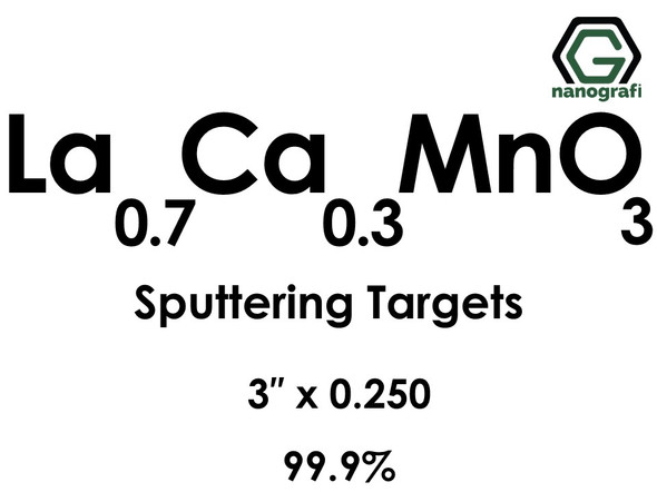 Lanthanum Calcium Manganate(La0.7Ca0.3MnO3) Sputtering Targets, Size:3'' ,Thickness:0.250'' , Purity: 99.9%