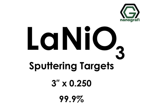 Lanthanum Nickel Oxide (LaNiO3) Sputtering Targets, Size:3'' ,Thickness:0.250'' , Purity: 99.9%