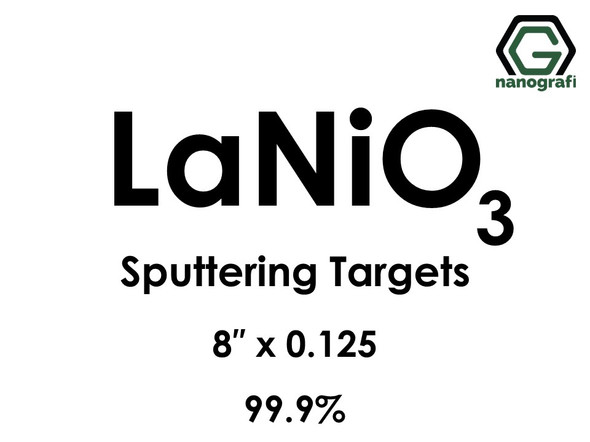 Lanthanum Nickel Oxide (LaNiO3) Sputtering Targets, Size:8'' ,Thickness:0.125'' , Purity: 99.9%