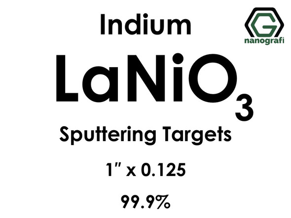 Lanthanum Nickel Oxide (indium)(LaNiO3) Sputtering Targets, Size:1'' ,Thickness:0.125'' , Purity: 99.9%