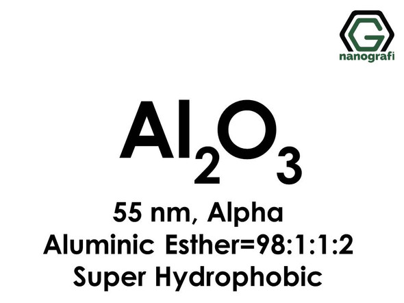 Aluminium Oxide (Al2O3) Nanopowder/Nanoparticles Coated with Aluminic Ester, Alpha, Size: 55 nm, Super Hydrophobic, Al2O3: Aluminic Ester=98.1:1.2- NG04SO0105