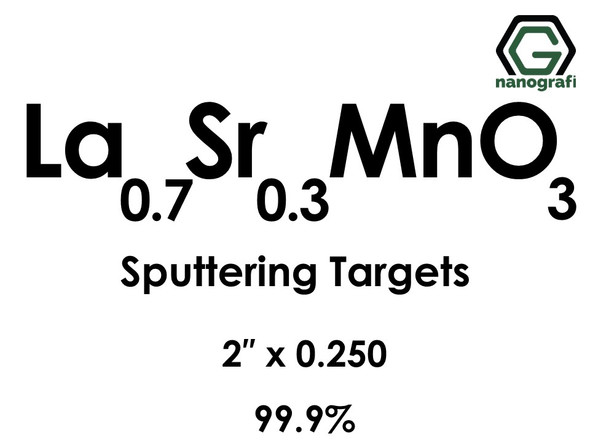 Lanthanum Strontium Manganate(La0.7Sr0.3MnO3) Sputtering Targets, Size:2'' ,Thickness:0.250'' , Purity: 99.9%
