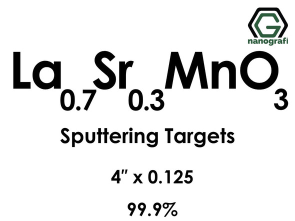 Lanthanum Strontium Manganate(La0.7Sr0.3MnO3) Sputtering Targets, Size:4'' ,Thickness:0.125'' , Purity: 99.9%