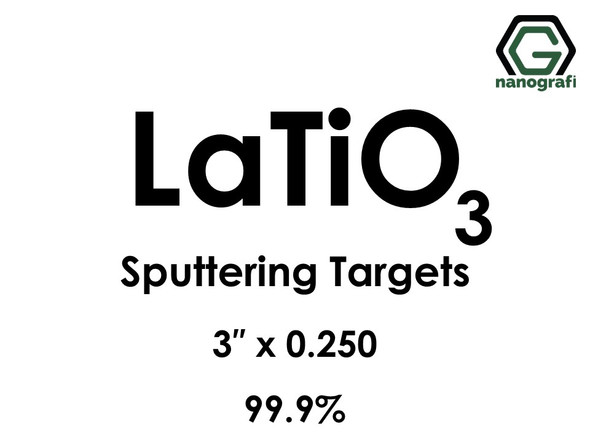 Lanthanum Titanate (LaTiO3) Sputtering Targets, Size:3'' ,Thickness:0.250'' , Purity: 99.9%