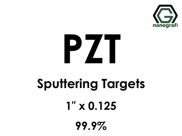 Lead Zirconium Titanate, PZT (O5PbTiZr) Sputtering Targets, Size:1'' ,Thickness:0.125'' , Purity: 99.9%