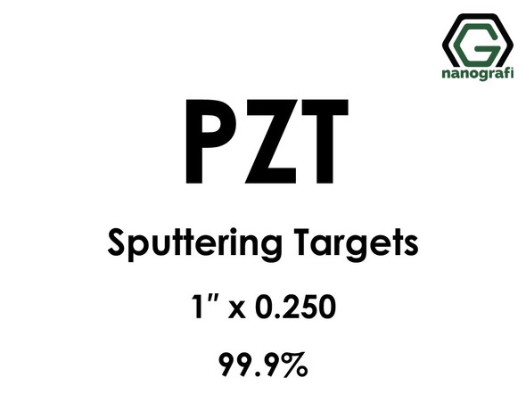 Lead Zirconium Titanate, PZT (O5PbTiZr) Sputtering Targets, Size:1'' ,Thickness:0.250'' , Purity: 99.9%
