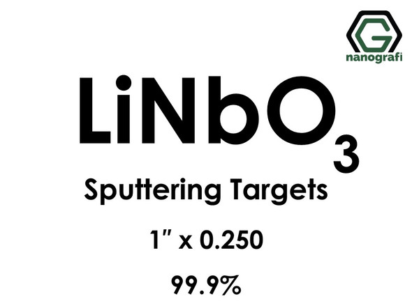 Lithium Niobate (LiNbO3) Sputtering Targets, Size:1'' ,Thickness:0.250'' , Purity: 99.9%
