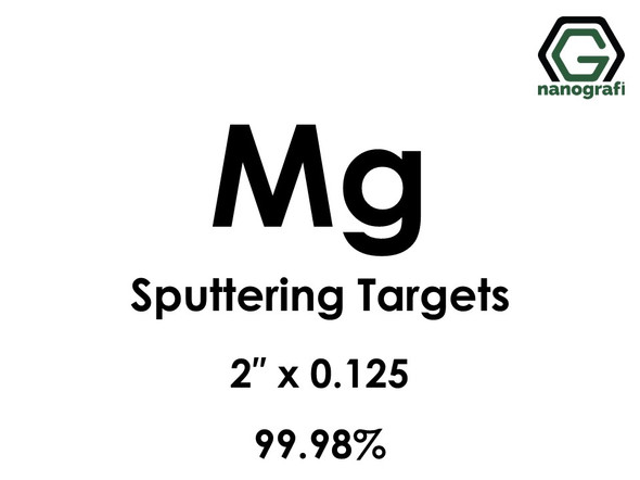 Magnesium (Mg) Sputtering Targets, Size:2'' ,Thickness:0.125'' , Purity: 99.98%