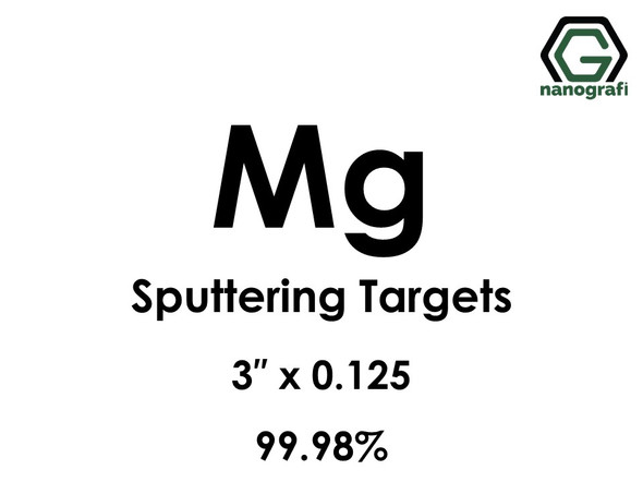 Magnesium (Mg) Sputtering Targets, Size:3'' ,Thickness:0.125'' , Purity: 99.98%
