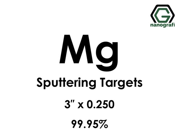 Magnesium (Mg) Sputtering Targets, Size:3'' ,Thickness:0.250'' , Purity: 99.95%