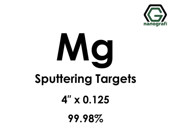 Magnesium (Mg) Sputtering Targets, Size:4'' ,Thickness:0.125'' , Purity: 99.98%