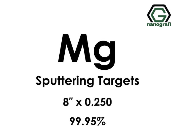 Magnesium (Mg) Sputtering Targets, Size:8'' ,Thickness:0.250'' , Purity: 99.95%