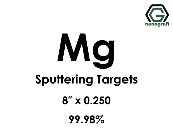 Magnesium (Mg) Sputtering Targets, Size:8'' ,Thickness:0.250'' , Purity: 99.98%