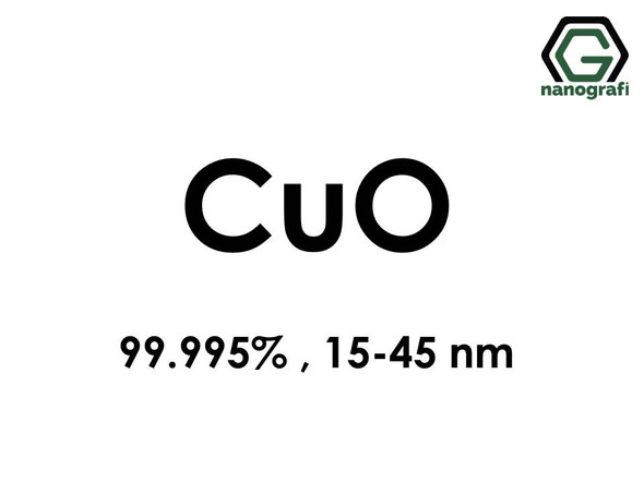 Copper Oxide (CuO) Nanopowder/Nanoparticles, High Purity: 99.995%, Size: 15-45 nm