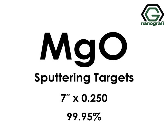 Magnesium Oxide (MgO) Sputtering Targets, Size:7'' ,Thickness:0.250'' , Purity: 99.95%