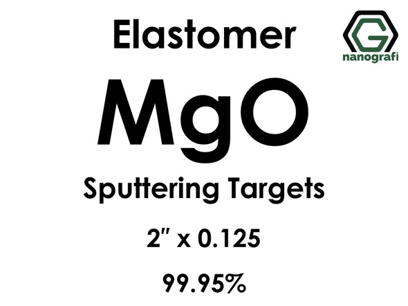 Magnesium Oxide (elastomer)(MgO) Sputtering Targets, Size:2'' ,Thickness:0.125'' , Purity: 99.95%