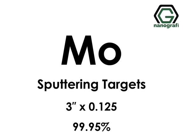 Molybdenum (Mo) Sputtering Targets, Size:3'' ,Thickness:0.125'' , Purity: 99.95%