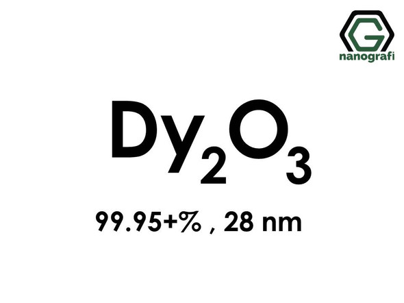 Dysprosium Oxide (Dy2O3) Nanopowder/Nanoparticles, High Purity: 99.95+%, Size: 28 nm