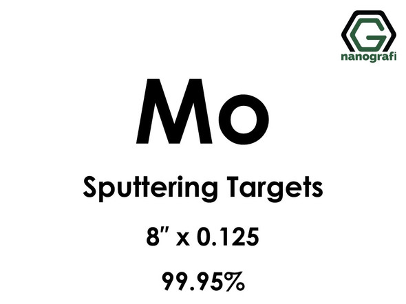 Molybdenum (Mo) Sputtering Targets, Size:8'' ,Thickness:0.125'' , Purity: 99.95%