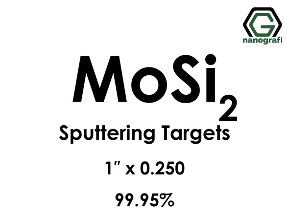 Molybdenum Disilicide (MoSi2) Sputtering Targets, Size:1'' ,Thickness:0.250'' , Purity: 99.95%