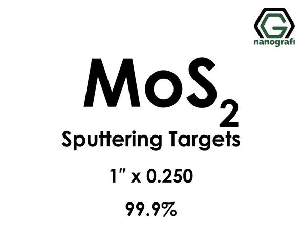Molybdenum Disulfide (MoS2) Sputtering Targets, Size:1'' ,Thickness:0.250'' , Purity: 99.9%