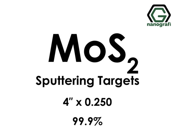 Molybdenum Disulfide (MoS2) Sputtering Targets, Size:4'' ,Thickness:0.250'' , Purity: 99.9%
