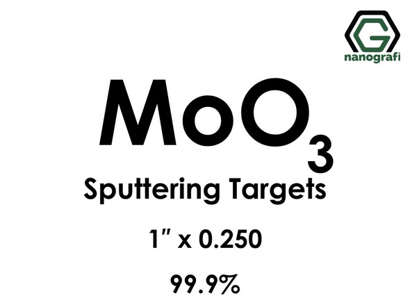 Molybdenum Oxide (MoO3) Sputtering Targets, Size:1'' ,Thickness:0.125'' , Purity: 99.9%