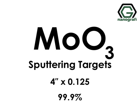 Molybdenum Oxide (MoO3) Sputtering Targets, Size:4'' ,Thickness:0.125'' , Purity: 99.9%