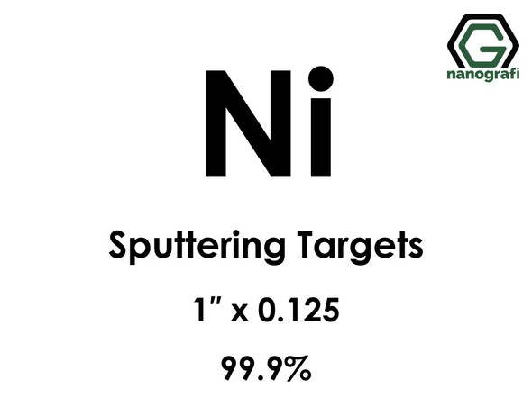 Nickel (Ni) Sputtering Targets, Size:1'' ,Thickness:0.125'' , Purity: 99.9%