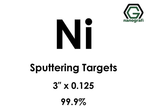 Nickel (Ni) Sputtering Targets, Size:3'' ,Thickness:0.125'' , Purity: 99.9%