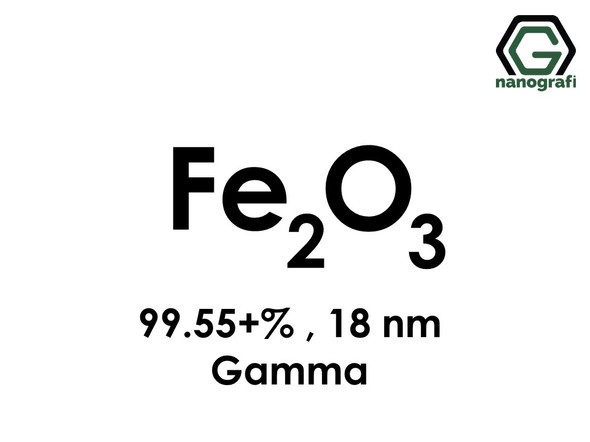 Iron Oxide (Fe2O3) Nanopowder/Nanoparticles, Gamma, High Purity: 99.55+%, Size: 18 nm- NG04SO1403