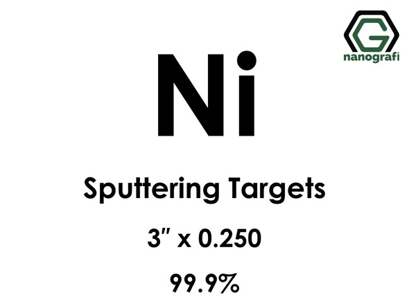 Nickel (Ni) Sputtering Targets, Size:3'' ,Thickness:0.250'' , Purity: 99.9%