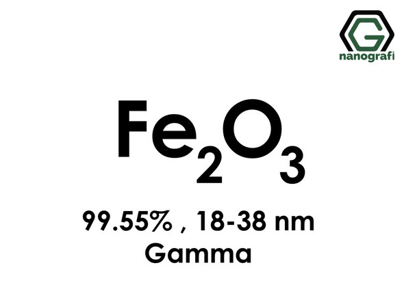 Iron Oxide (Fe2O3) Nanopowder/Nanoparticles, Gamma, Purity: 99.55%, Size: 18-38 nm- NG04SO1404