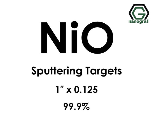 Nickel Oxide (NiO) Sputtering Targets, Size:1'' ,Thickness:0.125'' , Purity: 99.9%