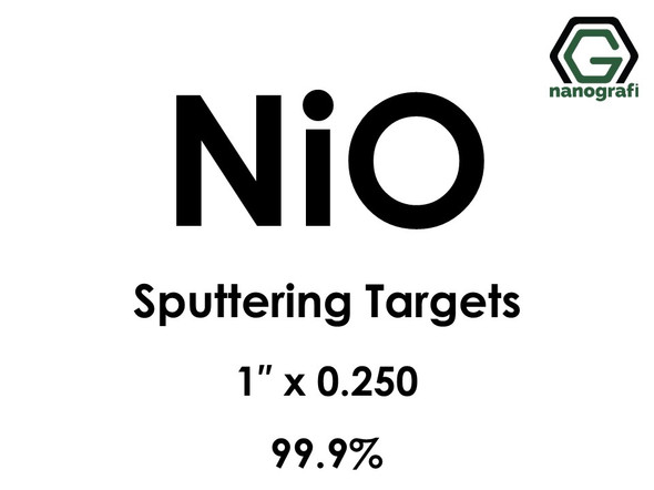 Nickel Oxide (NiO) Sputtering Targets, Size:1'' ,Thickness:0.250'' , Purity: 99.9%