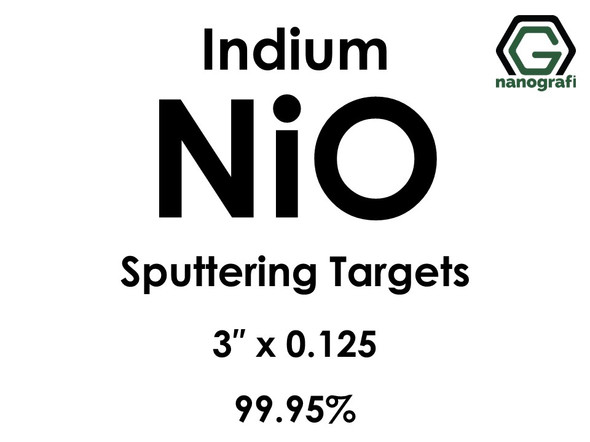 Nickel Oxide (indium)(NiO) Sputtering Targets, Size:3'' ,Thickness:0.125'' , Purity: 99.995%