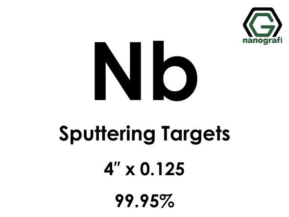 Niobium (Nb) Sputtering Targets, Size:4'' ,Thickness:0.125'' , Purity: 99.95% pure Ex Ta