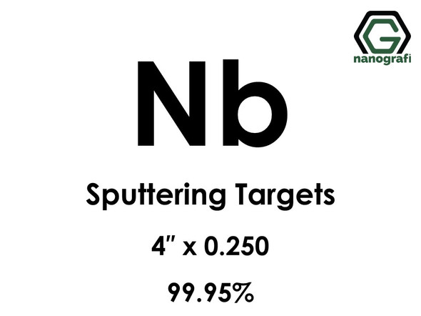 Niobium (Nb) Sputtering Targets, Size:4'' ,Thickness:0.250'' , Purity: 99.95% pure Ex Ta