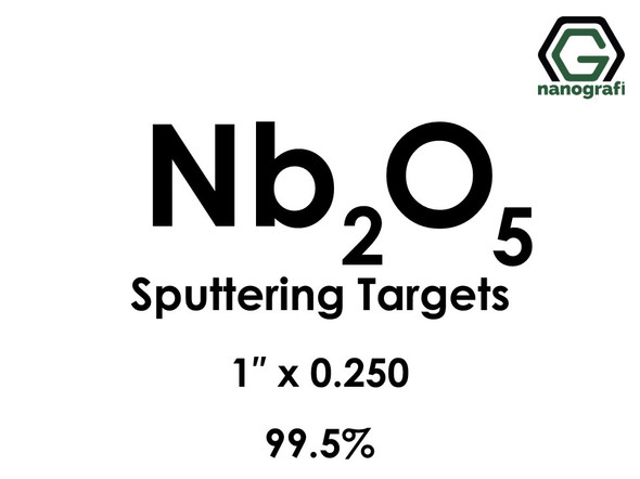 Niobium Oxide (Nb2O5) Sputtering Targets, Size:1'' ,Thickness:0.250'' , Purity: 99.5%