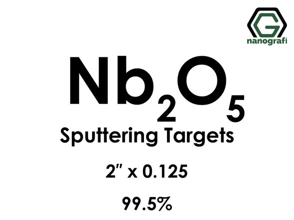 Niobium Oxide (Nb2O5) Sputtering Targets, Size:2'' ,Thickness:0.125'' , Purity: 99.5%