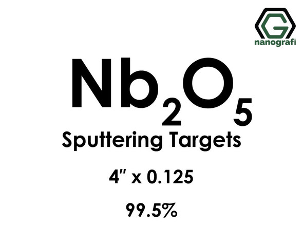 Niobium Oxide (Nb2O5) Sputtering Targets, Size:4'' ,Thickness:0.125'' , Purity: 99.5%