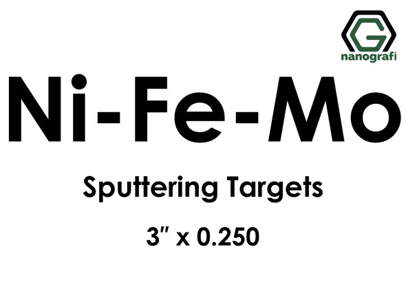 Permalloy (Ni-Fe-Mo) Sputtering Targets, Size:3'' ,Thickness:0.250''