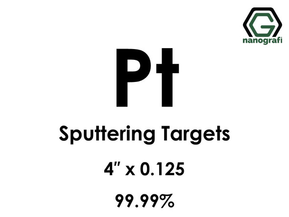 Platinum (Pt) Sputtering Targets, Size:4'' ,Thickness:0.125'' , Purity: 99.99%